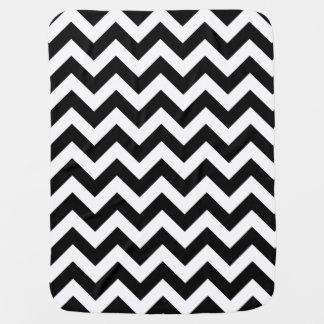 Customizable Modern Large Black Chevron Design Baby Blanket