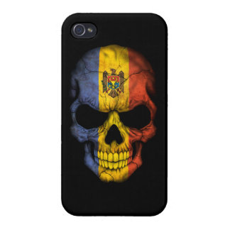 Customizable Moldovan Flag Skull iPhone 4/4S Covers