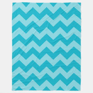 Customizable Monochromatic Chevron Fleece Blanket