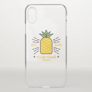 Customizable. Monogram. Cute Fruit. Pineapple. iPhone X Case