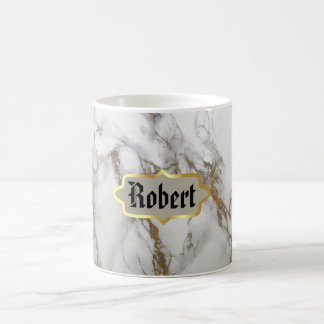 Customizable monogram Mug, marble Rose Gold Coffee Mug
