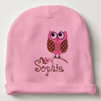 CUSTOMIZABLE Monogram/Owl BABY HAT Baby Beanie