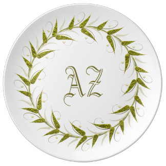 Customizable Monogram Plate
