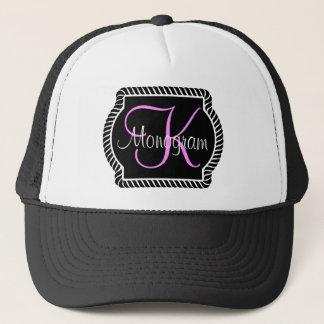 Customizable Monogram Trucker Hat