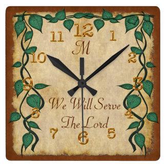 Customizable Monogrammed Vintage Christian Clocks