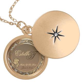 Customizable Mother Of Bride Keepsake Gold Locket