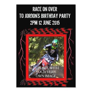 Customizable Motocross 13 Cm X 18 Cm Invitation Card