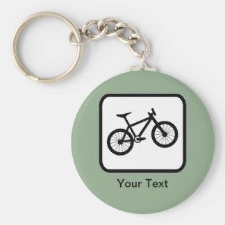 Customizable Mountain Biker Logo Basic Round Button Key Ring