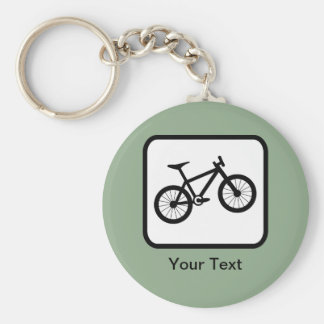 Customizable Mountain Biker Logo Key Ring