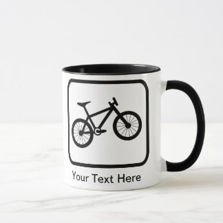Customizable Mountain Biker Logo Mug