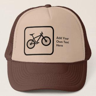 Customizable Mountain Biker Logo Trucker Hat