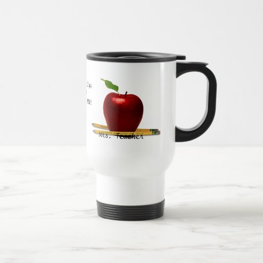 CUSTOMIZABLE Mrs. Teacher Travel Mug