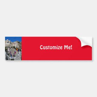Customizable Mt Rushmore Souvenir Car Bumper Sticker