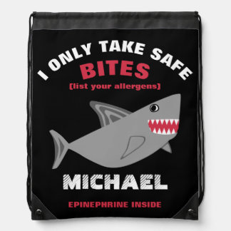 Customizable Multiple Food Allergy Alert Shark Bag