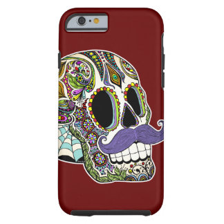 Customizable Mustache Sugar Skull Phone Case iPhone 6 Case
