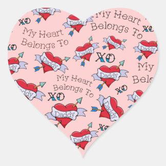 Customizable My Heart Belongs to Daddy Sticker