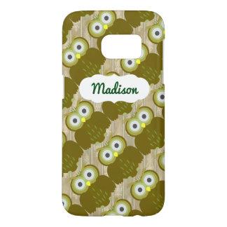 Customizable Name Brown Owl iPhone SG7 Case
