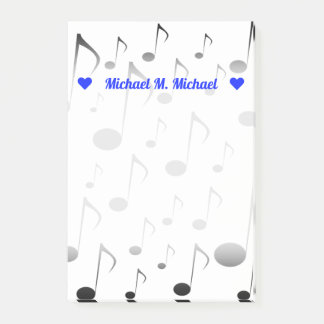 Customizable Name + Many Musical Notes Pattern