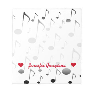 Customizable Name; Many Musical Notes Pattern