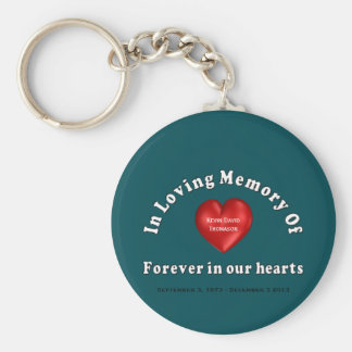 Customizable Name Memorial Products Loving Memory Basic Round Button Keychain
