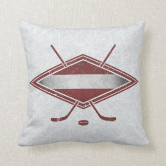 Customizable Name & Number Latvian Hockey Pillow