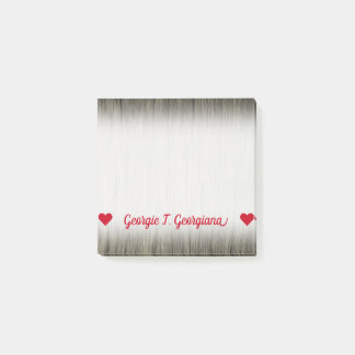 Customizable Name; Rustic Faux Wood Look Pattern Post-it Notes