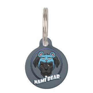 Customizable NamiBear Pit Bull Dog Illustration Pet Name Tag