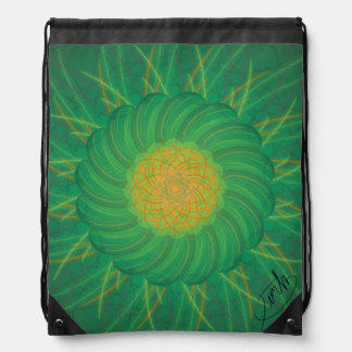 Customizable Nature (Psychedelic spirograph) Drawstring Bag