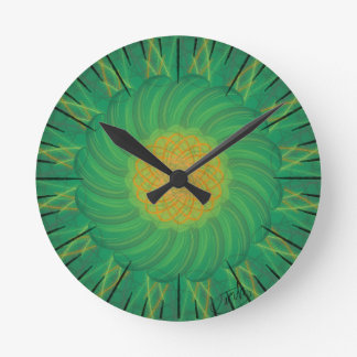 Customizable Nature (Psychedelic spirograph) Round Clock