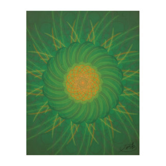 Customizable Nature (Psychedelic spirograph) Wood Wall Art