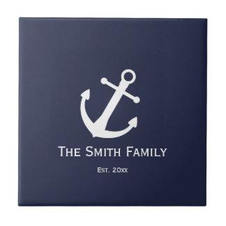 Customizable Nautical Anchor Tile