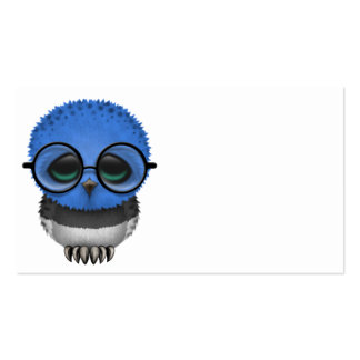 Customizable Nerdy Estonian Baby Owl Chic Pack Of Standard Business Cards