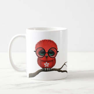Customizable Nerdy Hong Kong Baby Owl Chic Coffee Mug