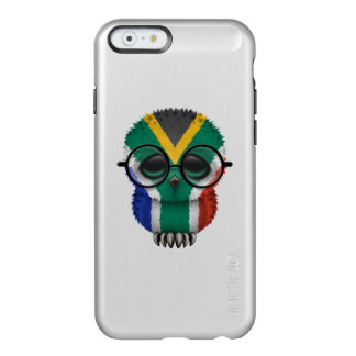 Customizable Nerdy South African Baby Owl Chic Incipio Feather® Shine iPhone 6 Case
