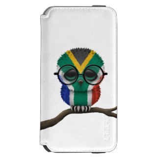 Customizable Nerdy South African Baby Owl Chic Incipio Watson™ iPhone 6 Wallet Case