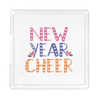 CUSTOMIZABLE New Year Cheer Bright Colors Acrylic Tray