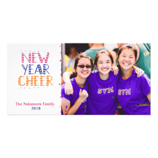 CUSTOMIZABLE New Year Cheer Bright Colors Card