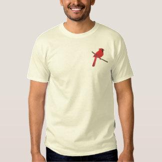 Customizable Northern Cardinal Embroidered T-Shirt