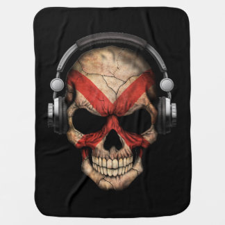 Customizable Northern Ireland Dj Skull Stroller Blankets