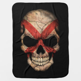 Customizable Northern Ireland Flag Skull Baby Blanket
