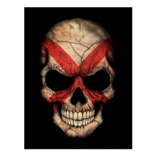 Customizable Northern Ireland Flag Skull Postcard
