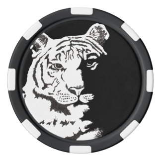 customizable numbered tiger poker chips