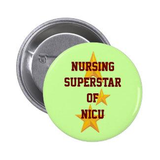 Customizable Nursing Superstar Button