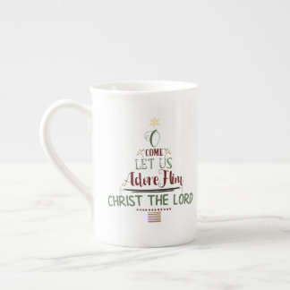 CUSTOMIZABLE O Come Let Us Adore Him Tea Cup