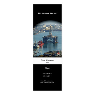 Customizable oil drilling rig watercolor profile business card