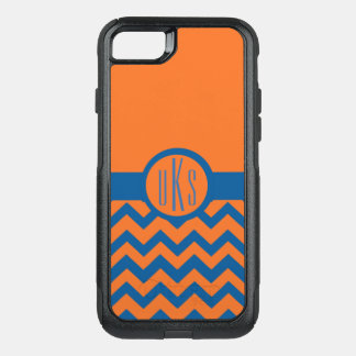 Customizable Orange and Blue Monogram OtterBox Commuter iPhone 8/7 Case