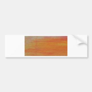 Customizable Orange Background Bumper Sticker