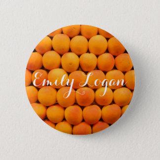 Customizable Orange Fresh Apricot Design 6 Cm Round Badge