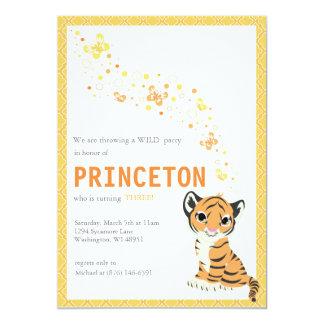 Customizable Orange Tiger Birthday Invitation