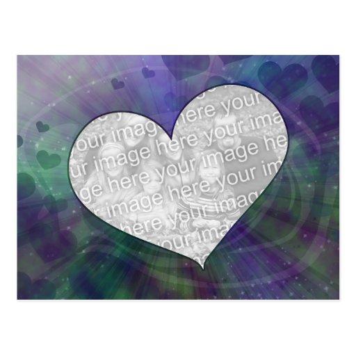 Customizable Orbit Heart Explosion Postcard